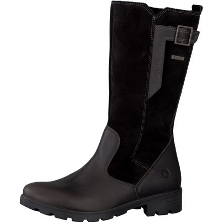 Ricosta SOPHIE  Waterproof Leather Buckle Boot (Black)